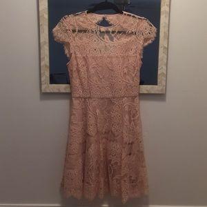 BB Dakota Rihanna Blush Lace Dress